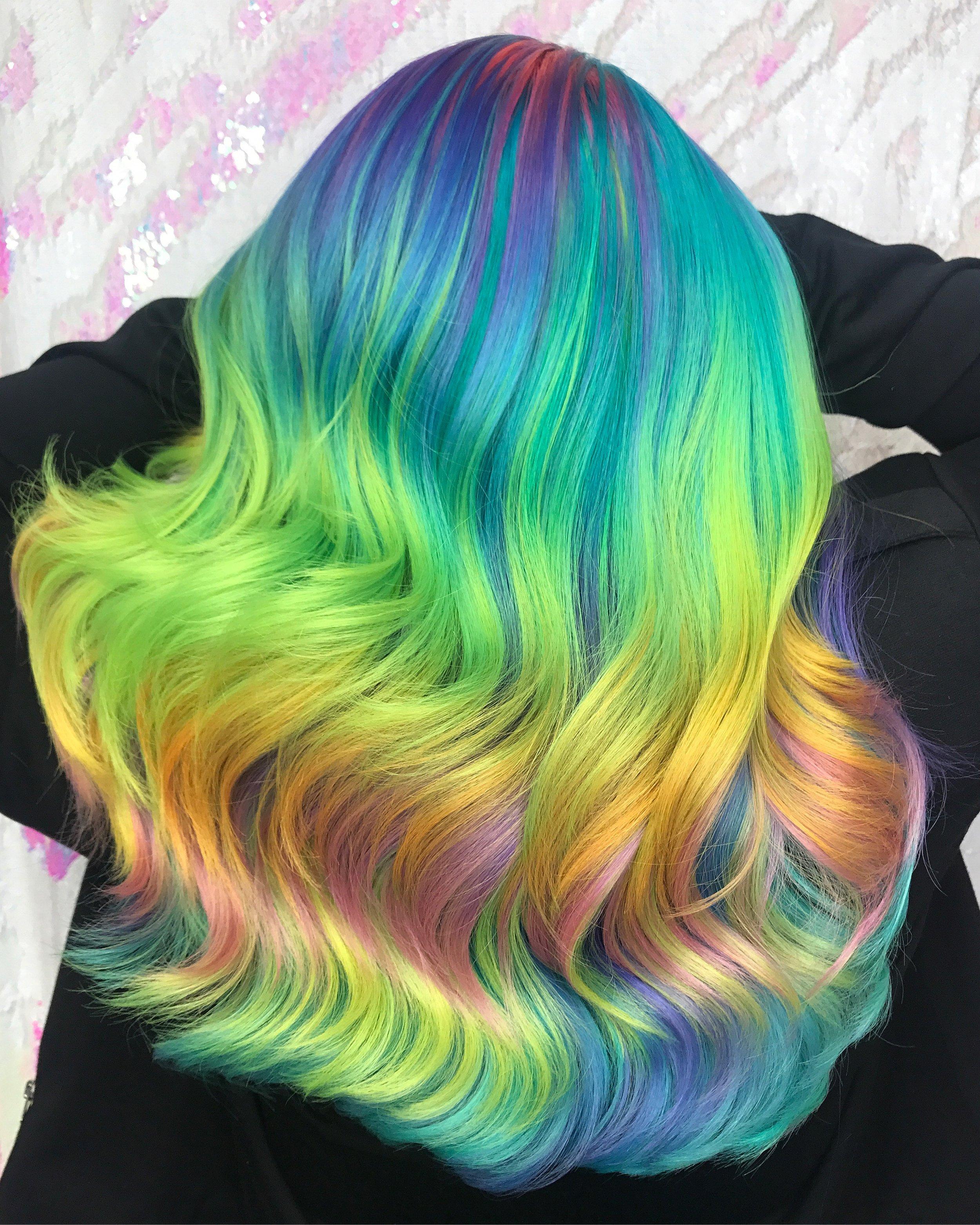 Neon Pasel Haircolor