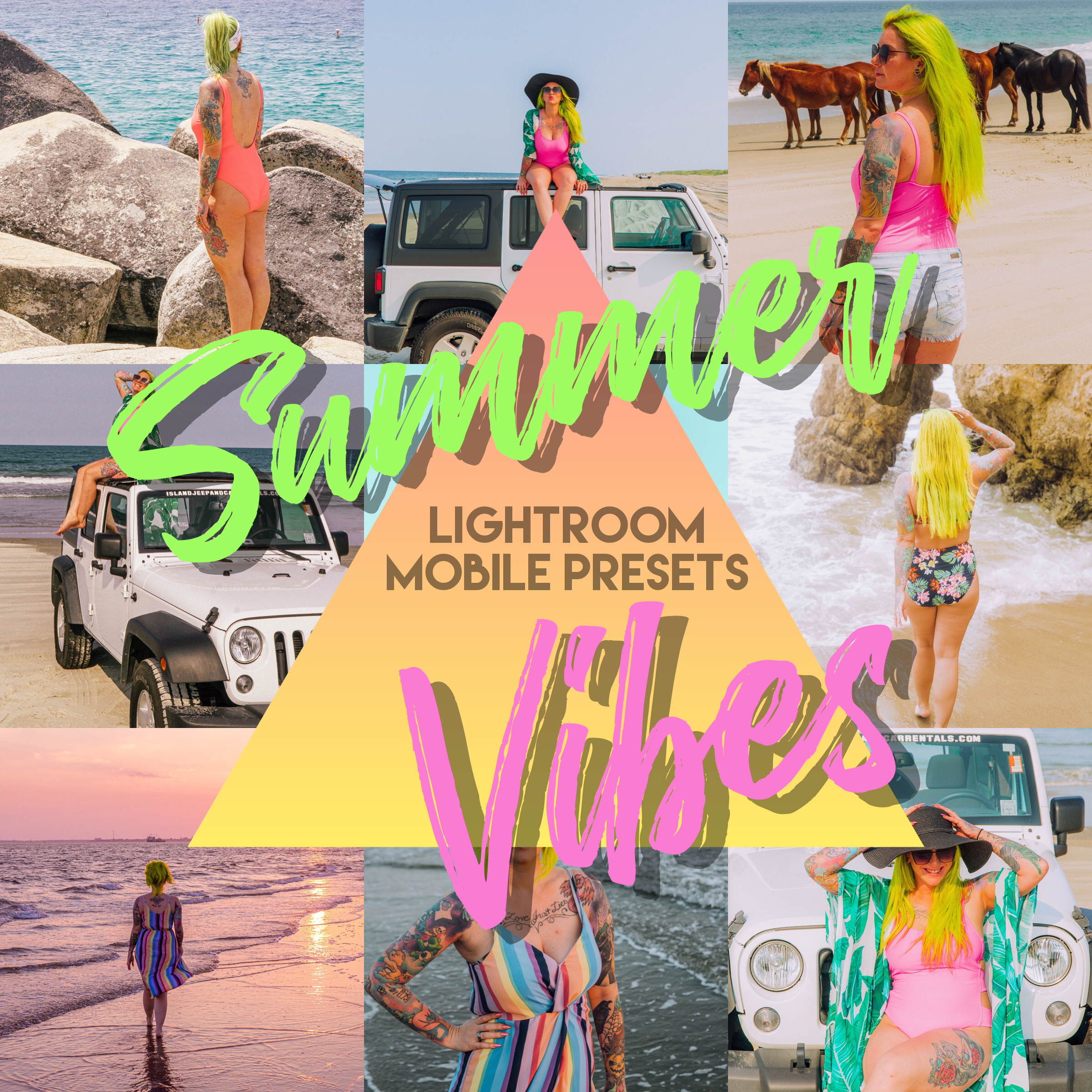 Summer Vibes Light Mobile Preset pack- The Chaos Collective