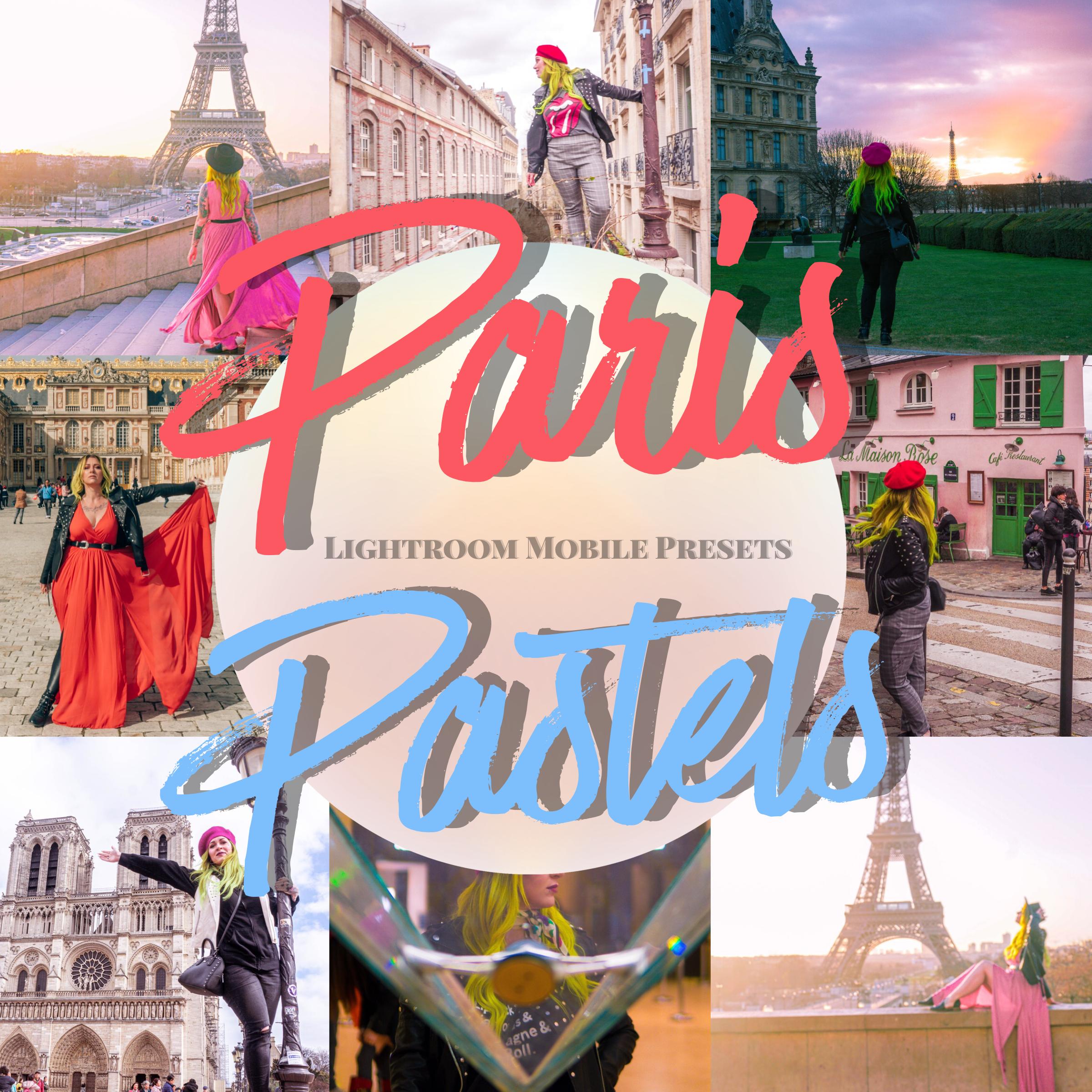 Paris Pastels Lightroom Mobile Preset Pack- The Chaos Collective
