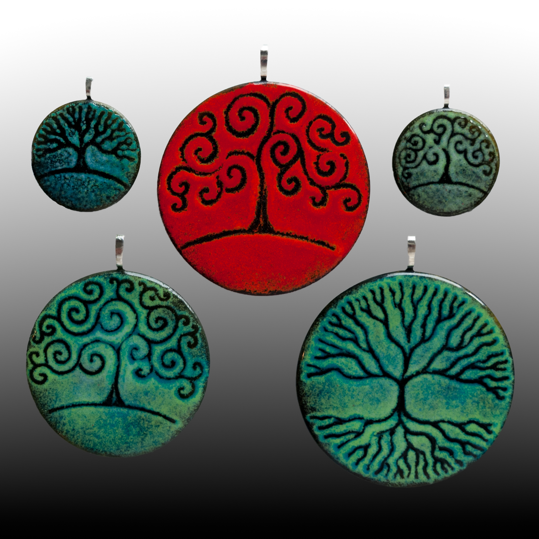 Steve Smith glass ornaments green red.jpg