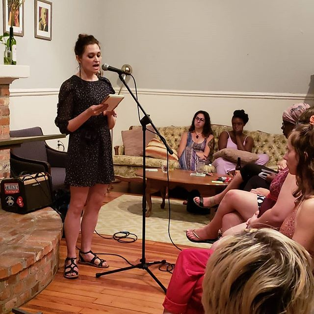 (Repost) Today we are missing the Athenian House. We want to say thank you to all the artists that have touched the mic at Femme Speak Out and shared a poem, song, comedy or monologue! We are excited to give a platform to student artists this Friday! Join us, tomorrow at Cameron Art Museum Oct 4th at Femme Slam at 730p!!