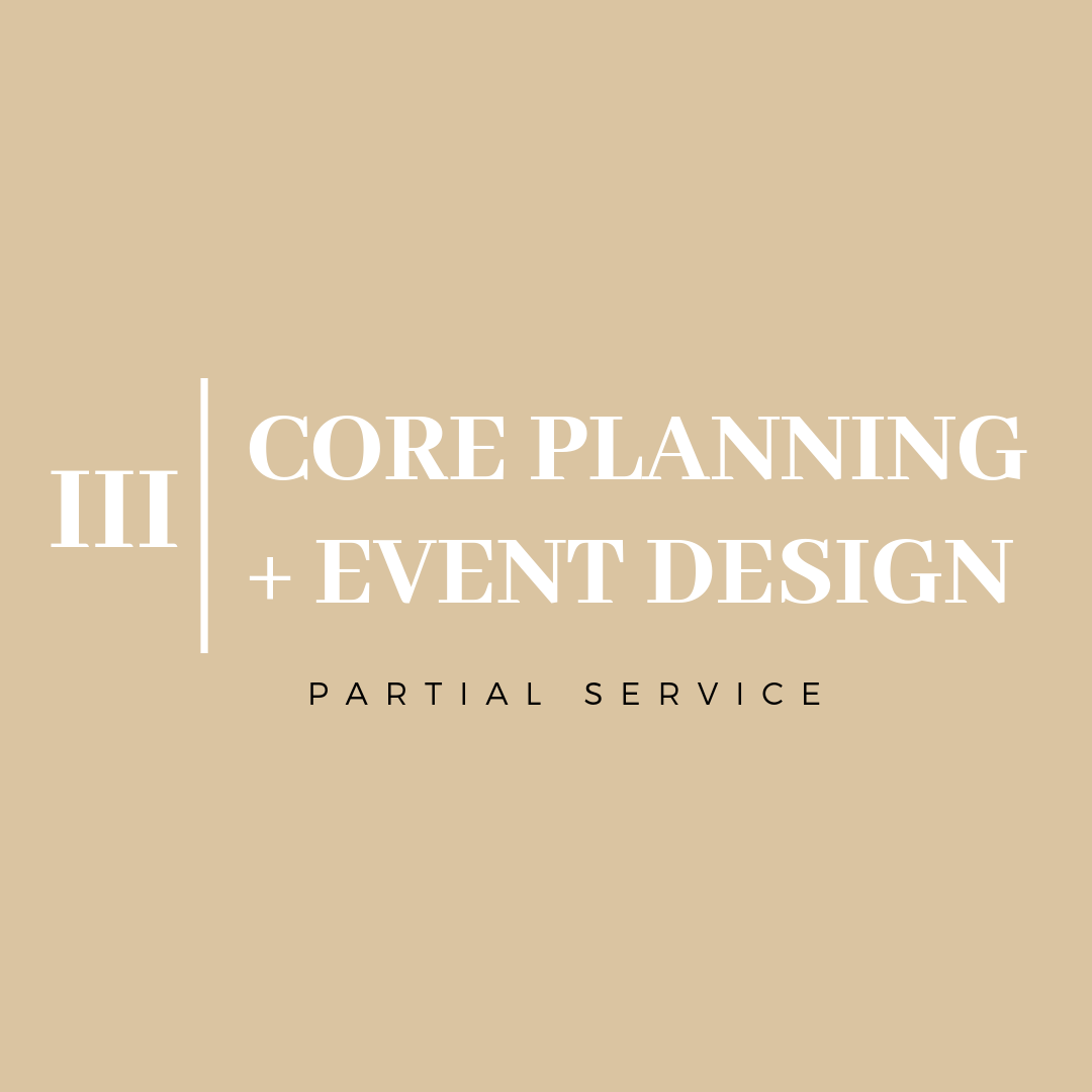 - If you have already contracted your venue or a few vendors, but need assistance with the remaining details, this is the package for you! Includes sourcing the outstanding vendors, curating a design plan, finalizing all logistics, Final Coordination and of course, on-site coordination on the day of the event.