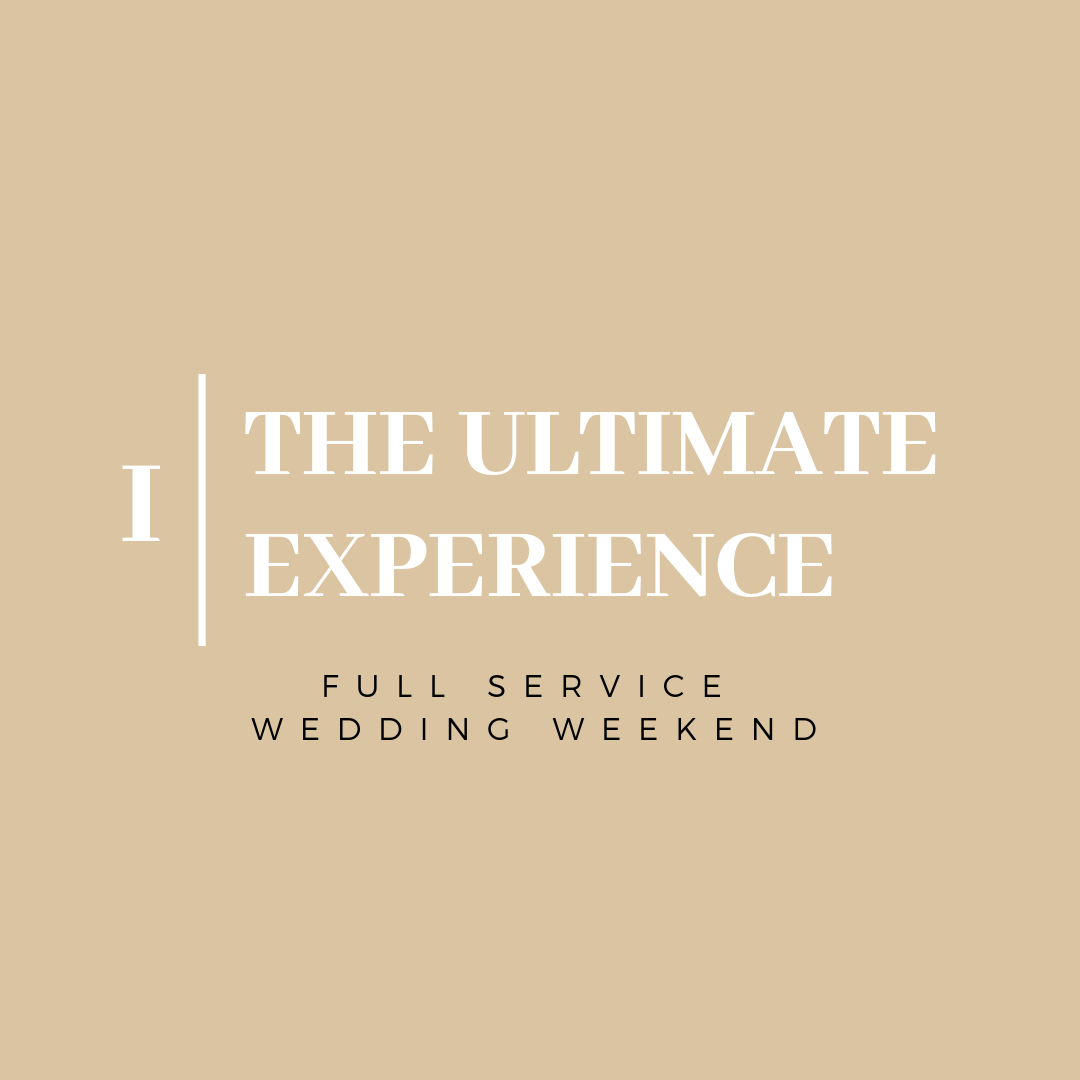 - Do you envision an entire weekend of events to celebrate your nuptials with your close friends and family? This full service planning + design package covers everything for the rehearsal dinner, welcome party, wedding day, after party and day-after brunch to ensure your guests have the experience of a lifetime!