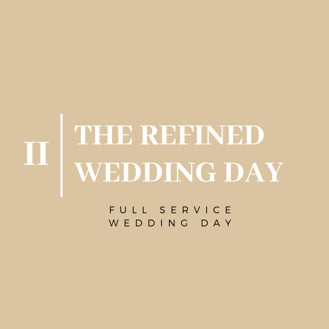 - From start to finish, we will guide you through the entire planning process for the wedding day including selecting your venue and curating an incredible vendor team, negotiating contracts, conceptualizing your decor, finalizing all logistics and working on-site on the day-of to ensure a seamless event.
