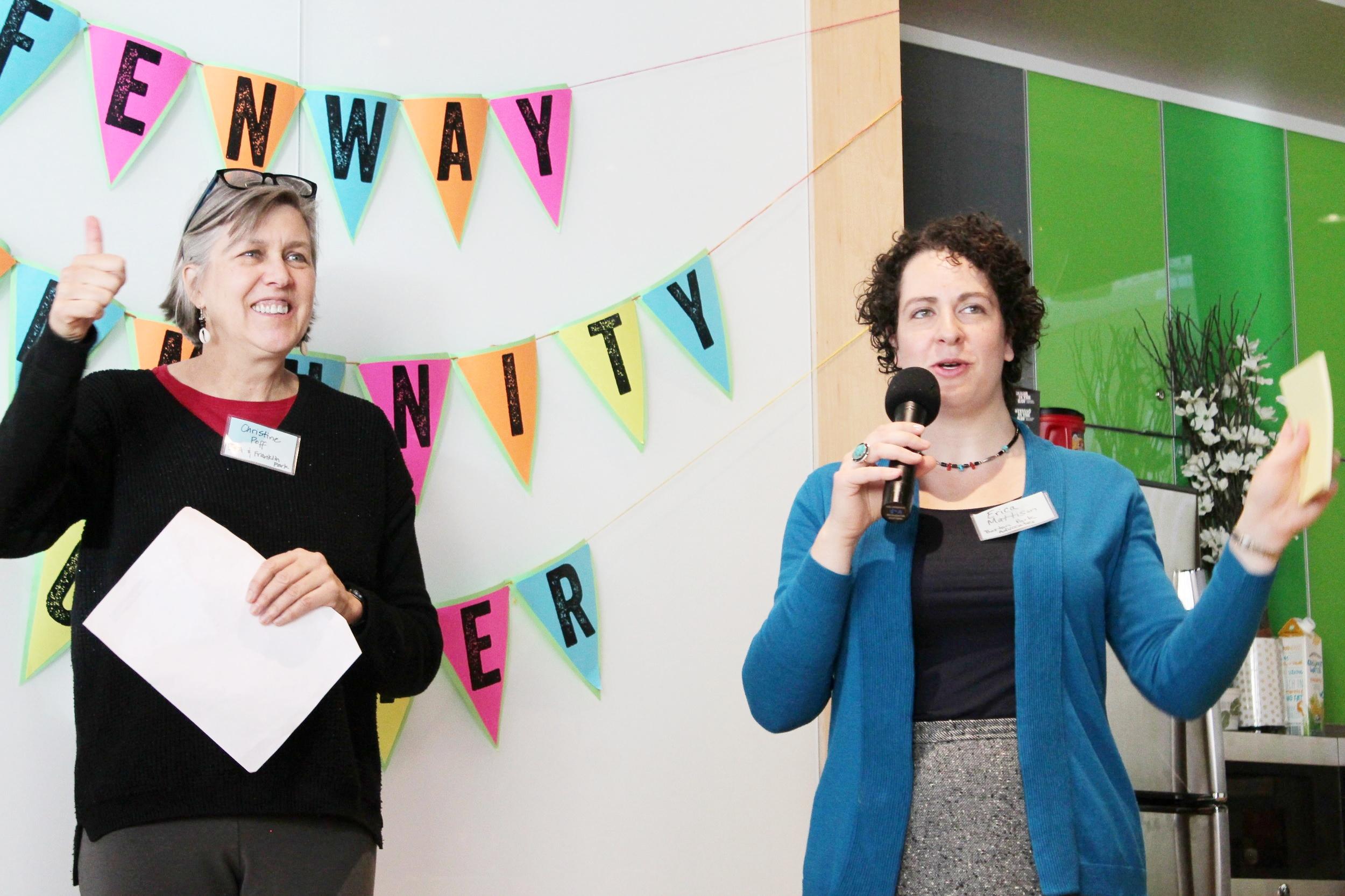 Erica (right) facilitating a 2017 Advocacy Summit for Boston Park Advocates
