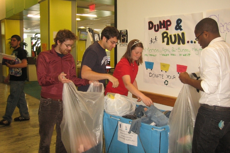 A partnership I formed with the nonprofit organization Dump & Run enabled the University to reduce waste, save money, and support numerous area charities such as Morgan Memorial Goodwill Industries.