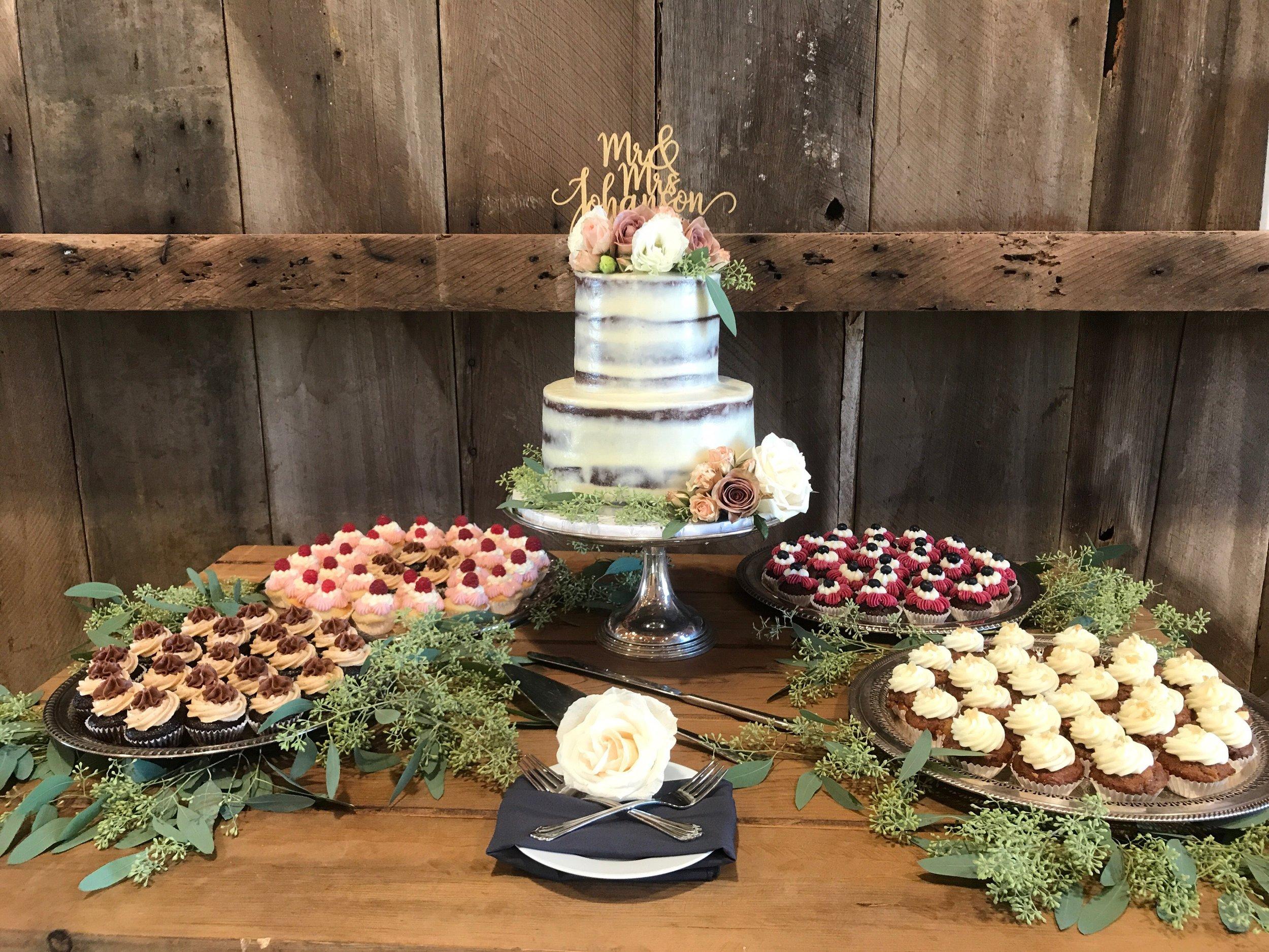 Cake: (From left to right) Vegan Almond Maple, Bramble, Gluten-Free Carrot Ginger