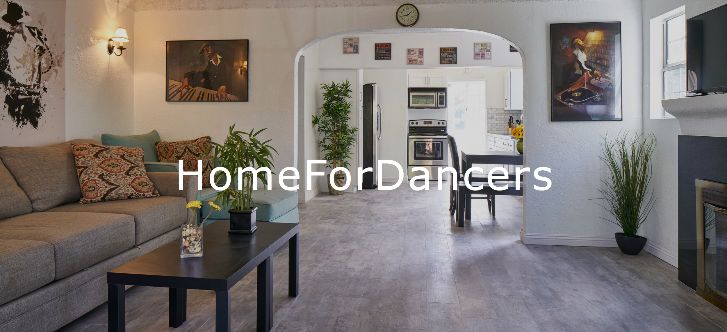 Home For Dancers - We offer shared bedrooms, as well as exclusive studio suites with built-in kitchenettes, private bathrooms & closets, and private parking and bike-rentals.