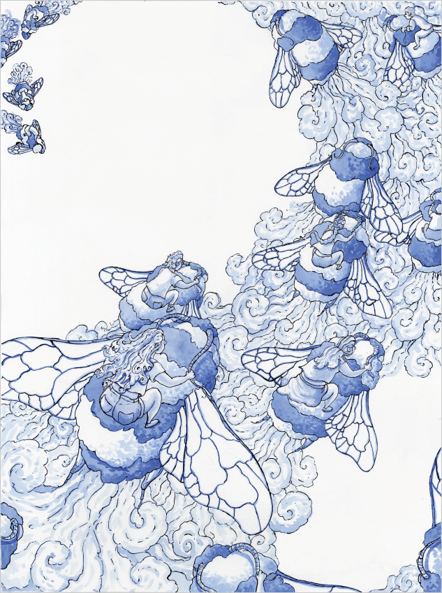 Linework and underpainting