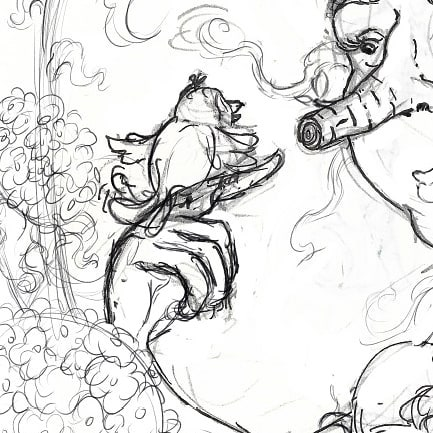 Little peak at the sketch of a painting I'm working on! . . #illustration #illustratorsofinstagram #editorialillustration #ink #wip #sketch #adobe #adobephotoshop #mothernature #kidsbooks #childrensbooks #bookstagram #kidlitart #kidlit #kidlitillustrator #childrensbookillustration #scbwi
