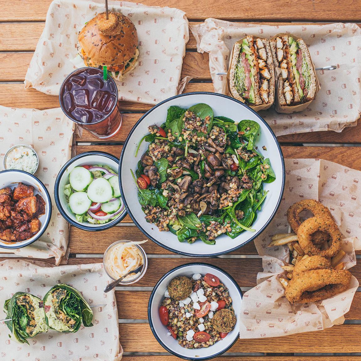 bareburger - menu design, promo design & illustration