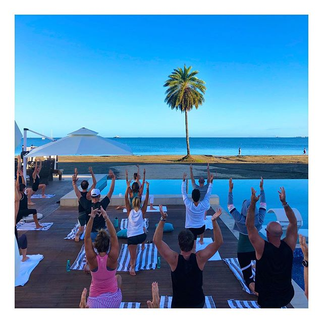 I had the great pleasure of teaching the amazing and inspiring community of @eosydney at the chapter retreat in Fiji over the weekend. Beyond grateful to be apart of this community 🙏✨🧘🏻♀️ #retreat #entrepreneurs #fiji #yogaeverywhere #yogaeverydamnday #sharetheyoga #meditation #mindfulness #corporatehealth #corporateevents #wellness #findyourflow #urbanflow #eosydney