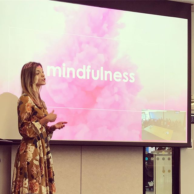 One of my favourite things to do in life is to share my passion for mindfulness with others and show them fun and easy ways to create more headspace in there day... whether it's a mindful bite of food or an immersive commute to work there are so many practical ways to train your brain to drop into the present moment! BIG thank you to the incredible team of @pfizerinc Sydney and Melbourne for giving me the platform to share my passion🙏  #mindfulnessintheworkplace #corporateevents #corporatehealth #mindfulness #meditationpractice #headspace #createthespace #thepowerofnow #apurposedrivenlife #findyourpassion #shareyourpassion