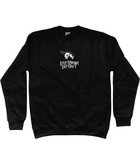 White Moon Embroidered Black Sweatshirt.JPG