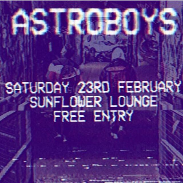 A$TROBOY$ are playing their first live show of the year this Saturday @thesunflowerlounge in Birmingham! 19:45pm 🔥☄️☄️☄️ Free tickets, link in @AstroboysUK Bio! 👀🦇🦇🏆