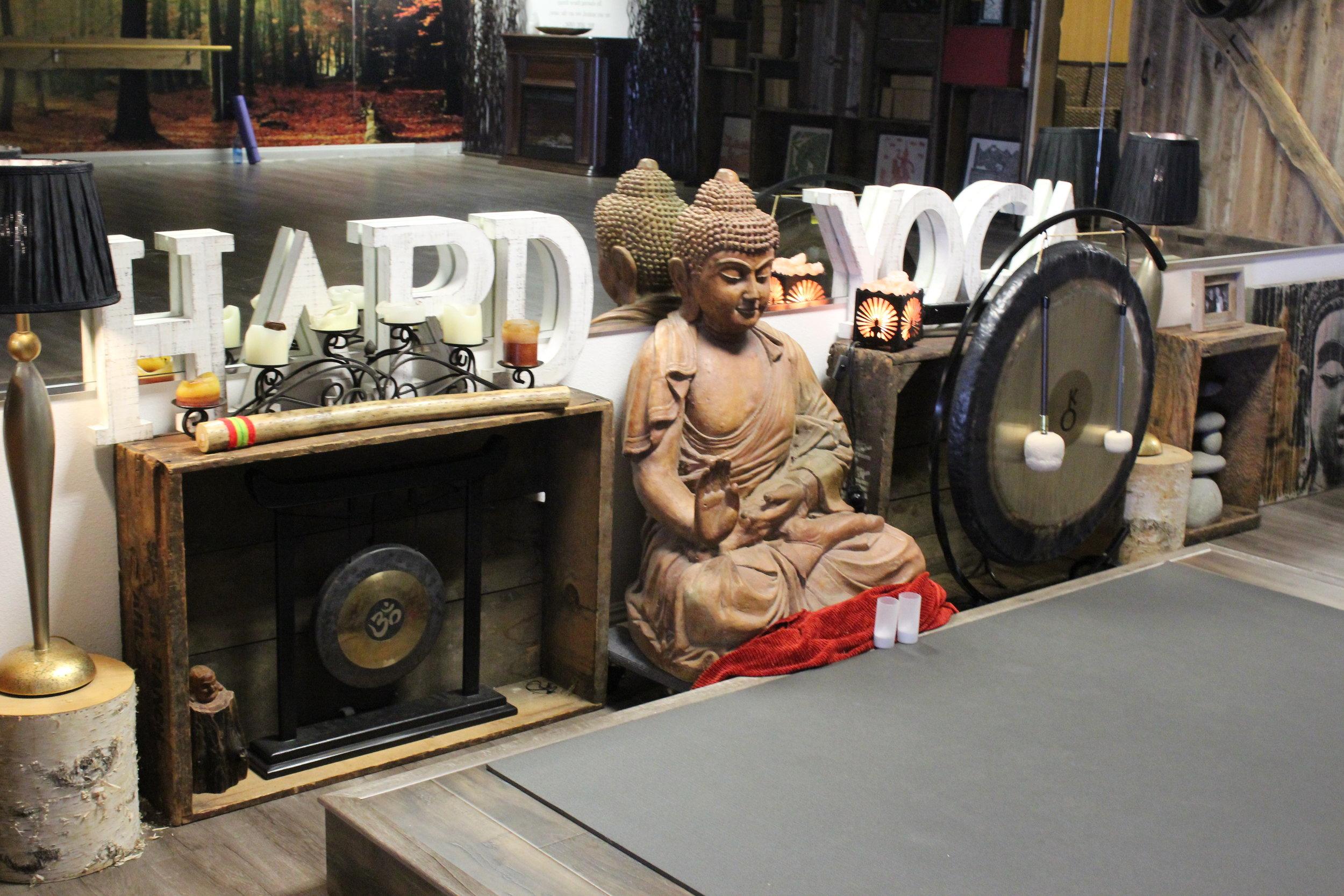 Budda in Main Yoga Studio