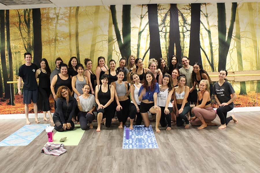 HARD yoga group photos