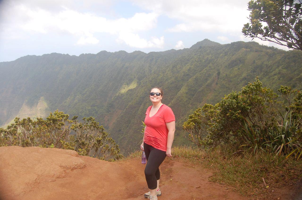 Kit enjoying some light hiking on Kauai, Hawai'i