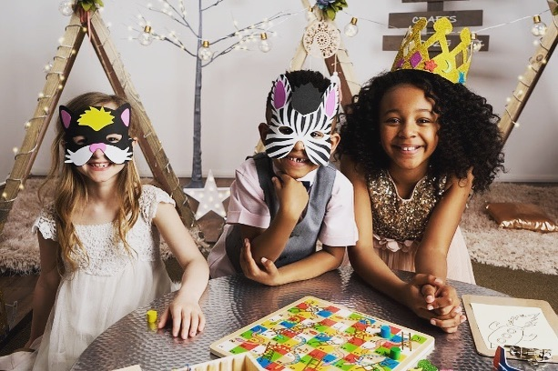 Animal masks and glitter crowns re-ordered!  Looking forward to setting up camp for the next wedding! #notlongnow #springwedding #weddings #kidsentertainment #brightideas #thelittletents