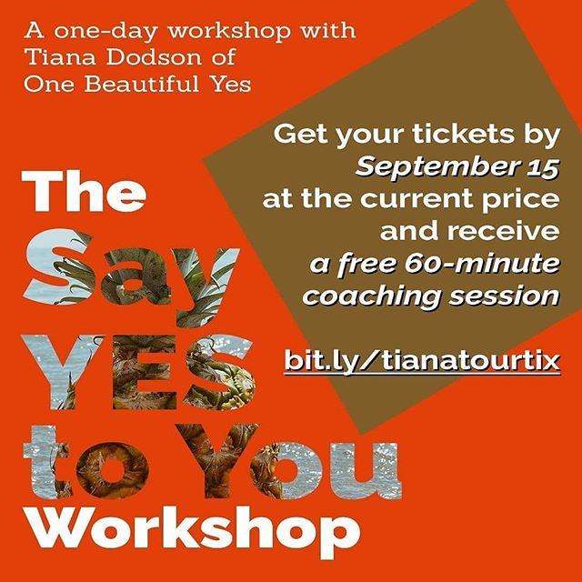 Please consider attending this workshop next month with @onebeautifulyes in #portland #LA #denver and #chicago because Tiana is wonderful! And if you can't attend, please repost!! Repost from @onebeautifulyes using - You deserve a day for you. But stop before you start thinking massages and bubble baths, because I'm talking about a very different you-centered day.  A day where you:  -practice how to see yourself and others differently -revel in fat-centered community -get acquainted with a framework that will move you away from dieting -build your confidence  Learn more at http://www.bit.ly/tianatourtix  Or at the link in my profile.  #FatPositive #FatAcceptance #FatLiberation #BodyLiberation #LiveYourBestFatLife #LoseHateNotWeight #BetterThanBodyPositivity #HAES #RiotsNotDiets #RadicalSelfCare #EfYourBodyStandards #EffYourBeautyStandards