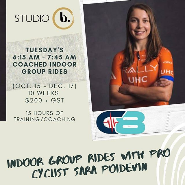 Fall is my favourite time of year to ride, but it also means it's time to start planning for winter training! ⁣ ⁣ I'll be hosting a spin class at Studio B in Canmore starting in one month! The classes will focus on building strength and endurance on the bike. ⁣ ⁣ Bring your own bike and trainer. Additional equipment (heart rate, power, cadence sensor) is optional. ⁣ ⁣ Registration is open at studiobcanmore.com