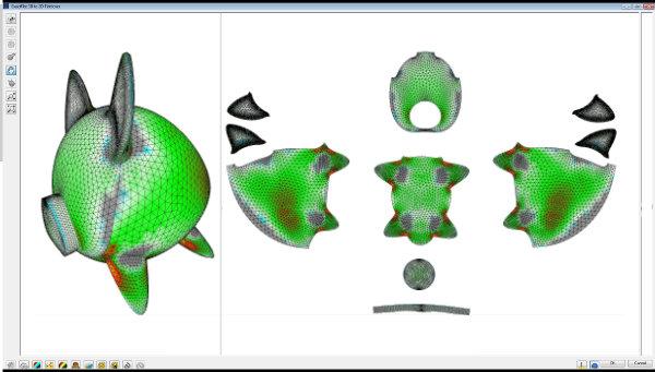 Digital Patterning 3d to 2d Flattening
