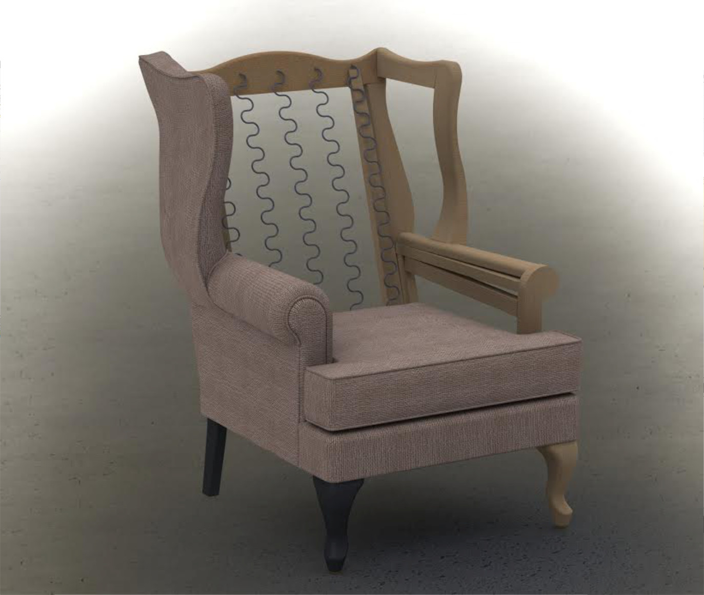 Digital Models allow for simultaneous design validation of both the mechanical and fabric component of the chair