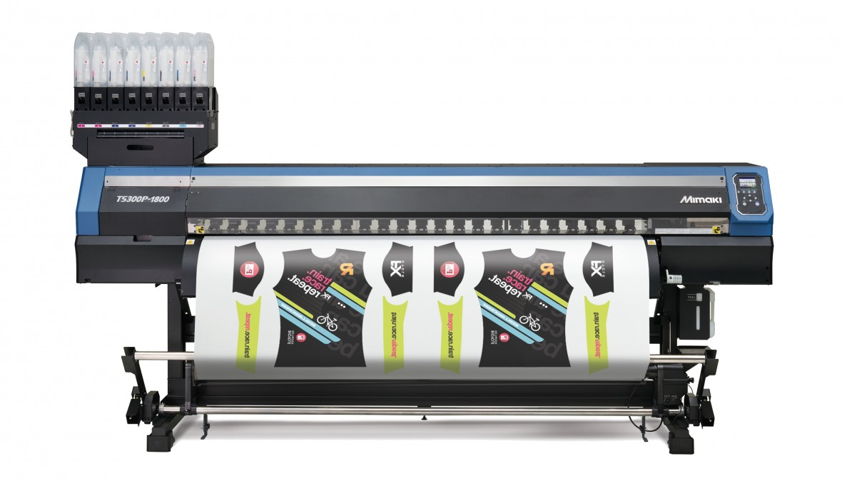"""Dye Sublimation printers print graphics on fabrics. They are available from many different manufacturers including HP, Roland, Canon, Epson, and Mimaki.   According to Ronald van den Broek, the European General Manager for Mimaki,speaking at the FESPA 2017 show in Hamburg,""""...there is growing demand for shorter run and customised textile products. The printers are also being used for sampling, speeding time to market without breaking the bank."""""""