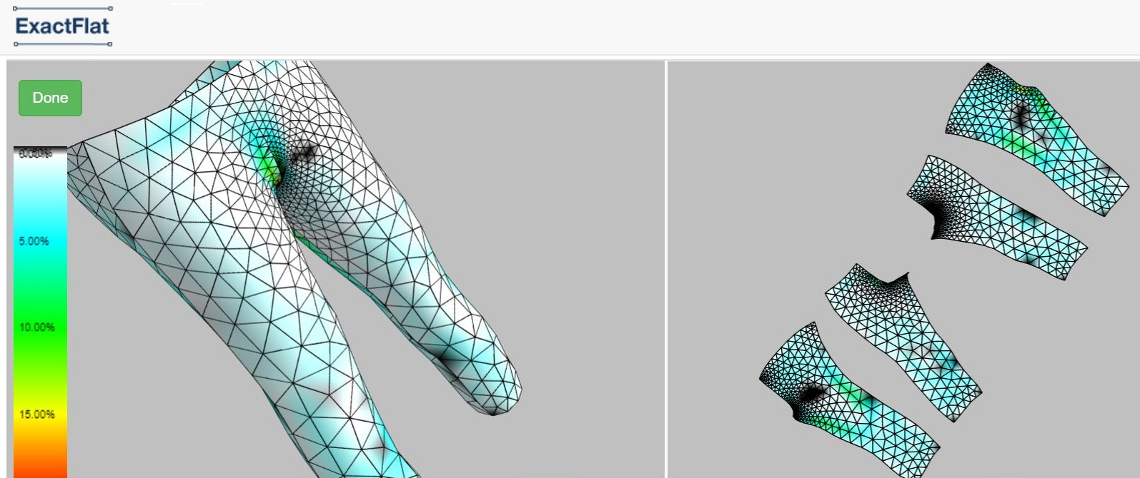 With the new generation of 3D to 2D flattening tools like ExactFlat designers can convert their concepts to production ready patterns in minutes.