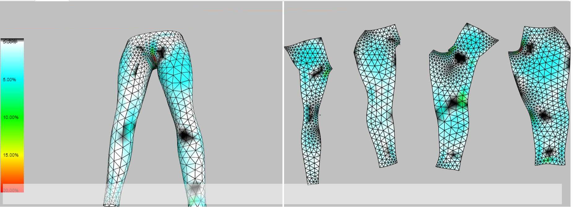 Use Exactflat to instantly flatten the 3D model into 2D pattern pieces that are cutter ready and will fit perfectly. Click on the image to  see the process in action.