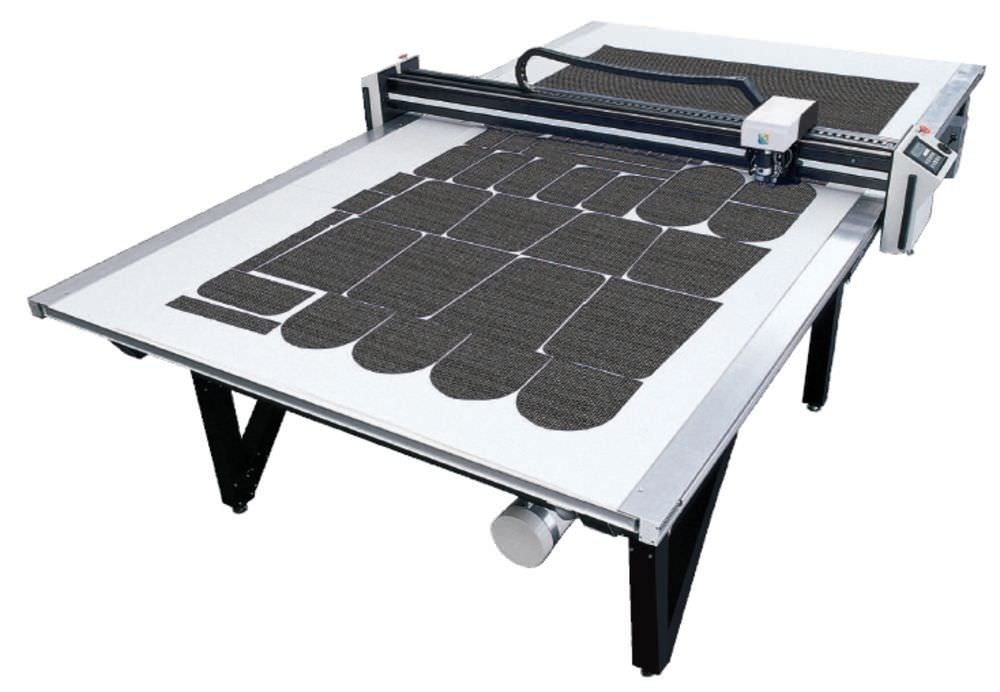 Automated cutting tables work directly with the output from ExactFlat Digital Patterning software. This reduces the steps between CAD and Cutter, saving time and eliminating errors.