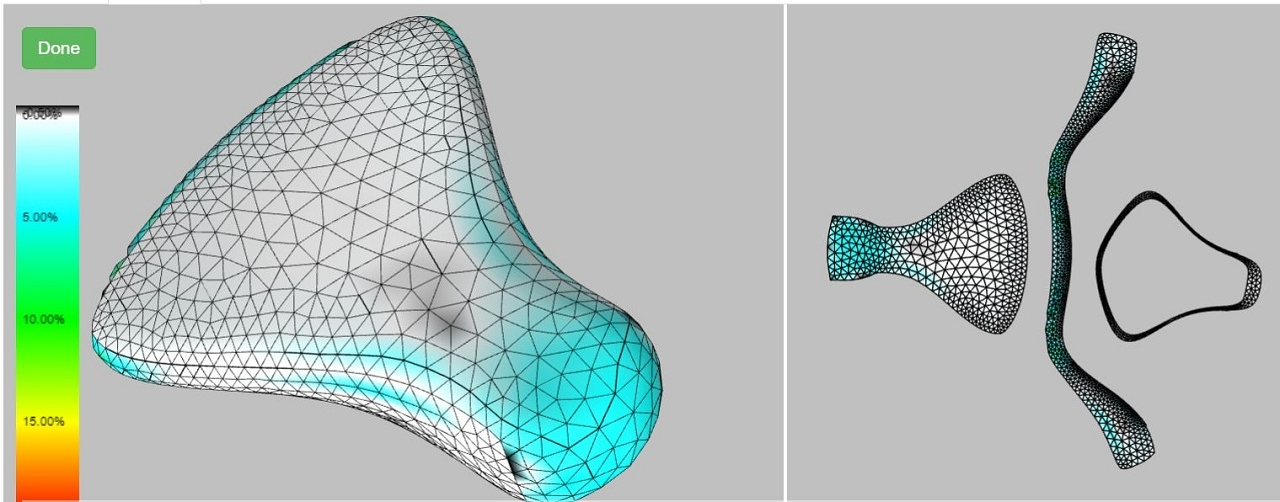 With the exception of a few input choices all of the steps for 3D to 2D flattening and pattern optimization take place in the background and are hidden from the user.