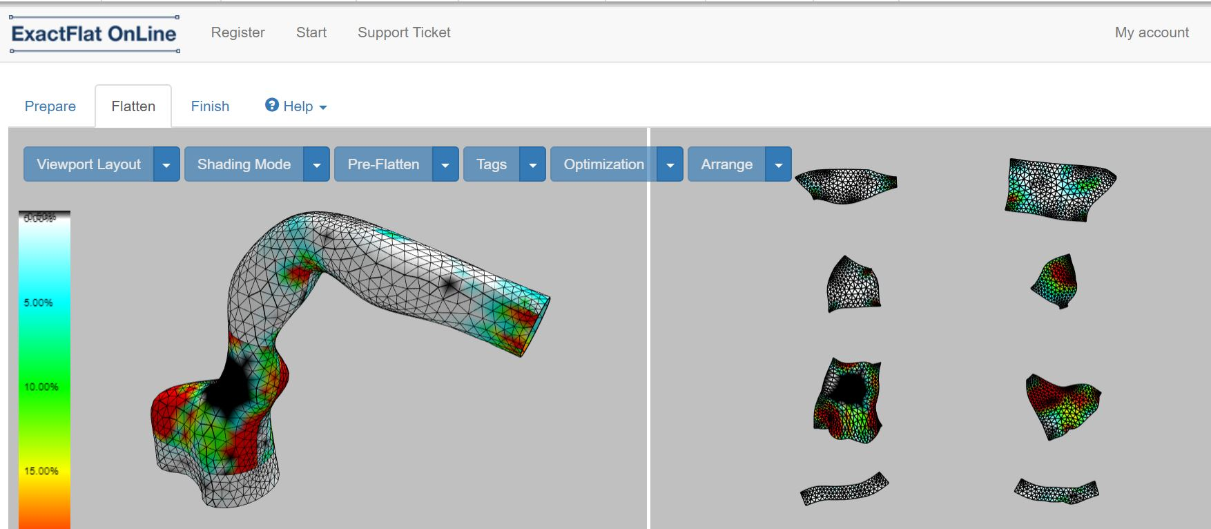 From apparel to car seats to inflatable structures to robot protection covers, 3D CAD and digital patterning optimize the flattening and production of soft goods. Click on the image to learn more.