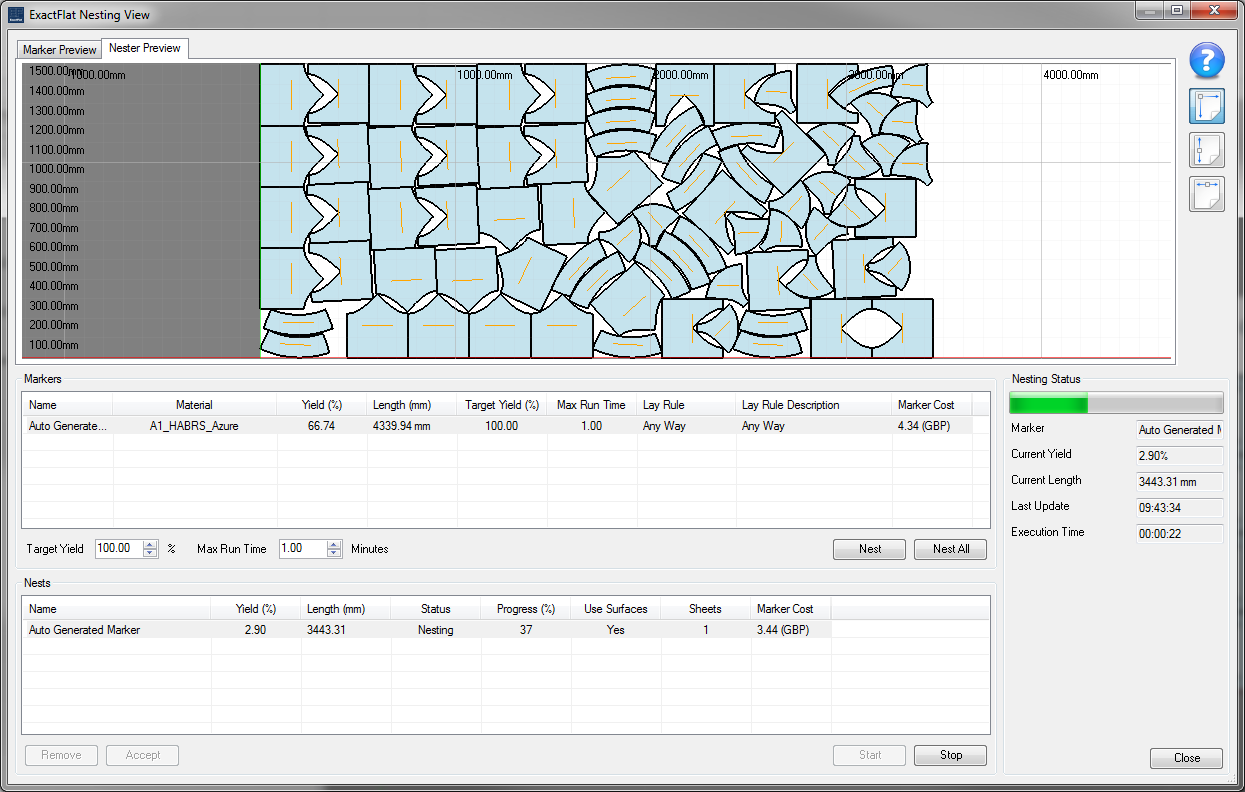 Automated Nesting helps optimize material usage and drives down costs. The new generation of digital patterning software from like ExactFlat integrated design, patterning and costing into one simple to use environment streamlining the processes. Click on the image to learn more.