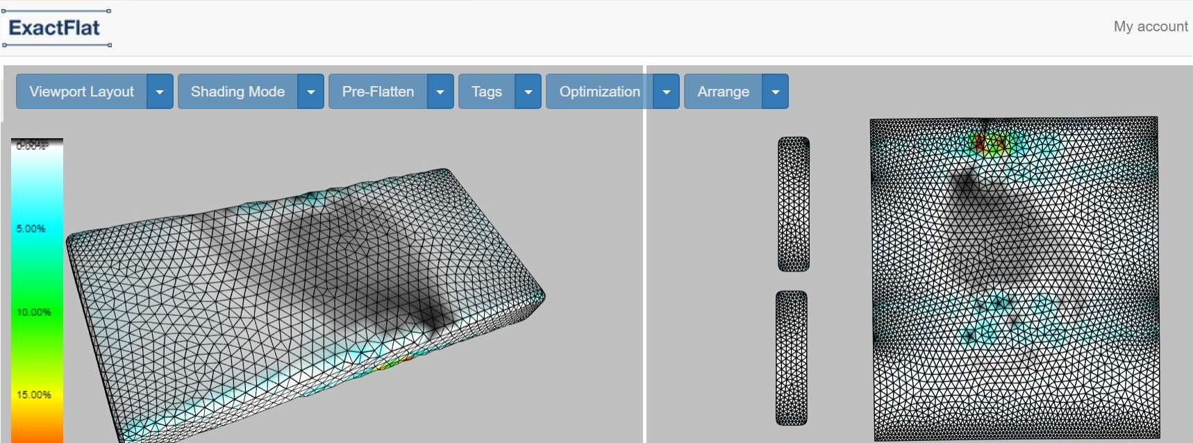 2D Patterns were created directly from the 3D model in minutes. Reducing fit testing and avoiding the need for samples and wasted materials.