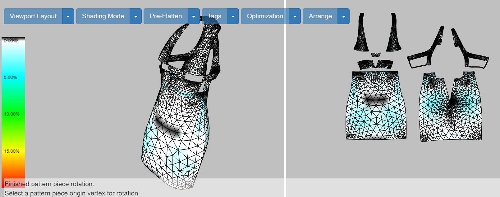 Once the items are purchased, the same 3D CAD model used to the create the sales and marketing materials is rapidly converted to 2D patterns and assembly instructions for manufacturing.  Click on the image above to see the process in action.