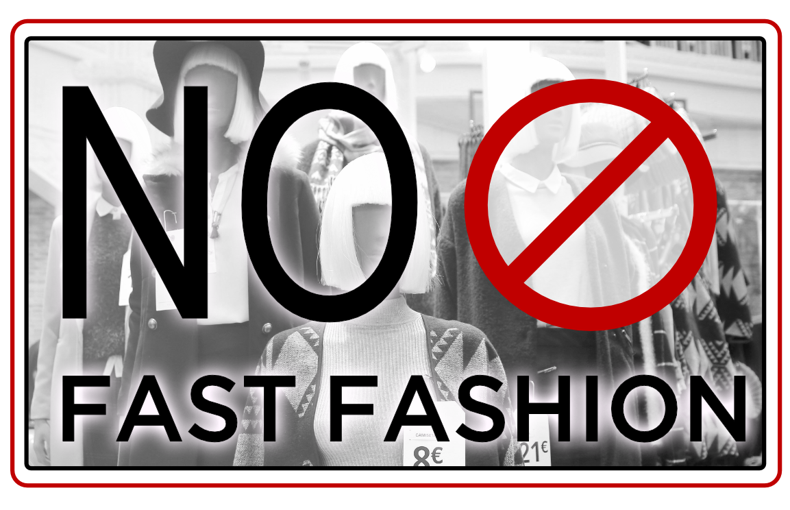 Fast Fashion  is a process by which inexpensive clothing is produced rapidly in response to the latest trends. In addition to the low-quality clothing concerns, the practice is also associated with quickly moving designs from runway to store to consumer and then to the garbage .