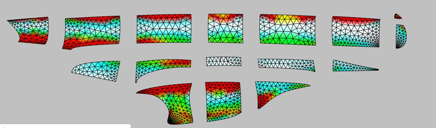 "Digital Patterning solutions convert the 3D design into 2D patterns in minutes. A major feature of these tools is the ability to ""see"" areas of high strain and/or sag in the pattern pieces and to make adjustments before any materials are cut."