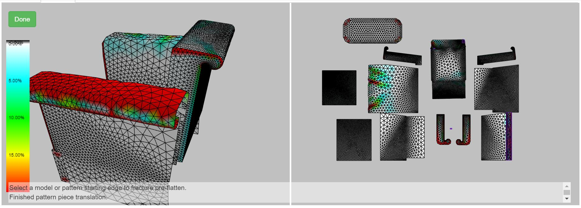 Flatten the 3D design into 2D patterns in minutes