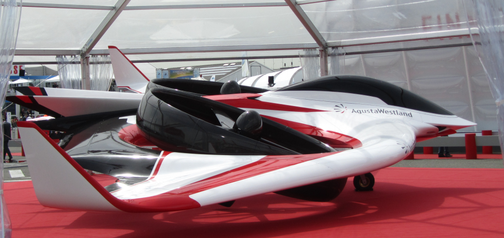 "Figure 1. Finmeccanica's ""Project Zero"" all-electric commuter plane is currently under-going certification testing. The combination of BWB lifting and low-weight/high-strength materials were required in order to turn this fuel and noise reducing concept into a reality."