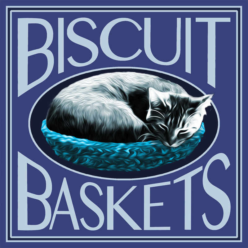 Bre's Biscuit Baskets - Give your cat a hug even when you're not at home!Have you ever seen a cat kneading happily away...that's what Bre calls making biscuits (a sure sign of a content cat). These handmade crocheted beds will be an instant hit with your cat (or your family and friend's cats). AND 20% of all product sales are donated to Safe Haven — now that's a double good deed! Get your Bre's Biscuit Basket today!