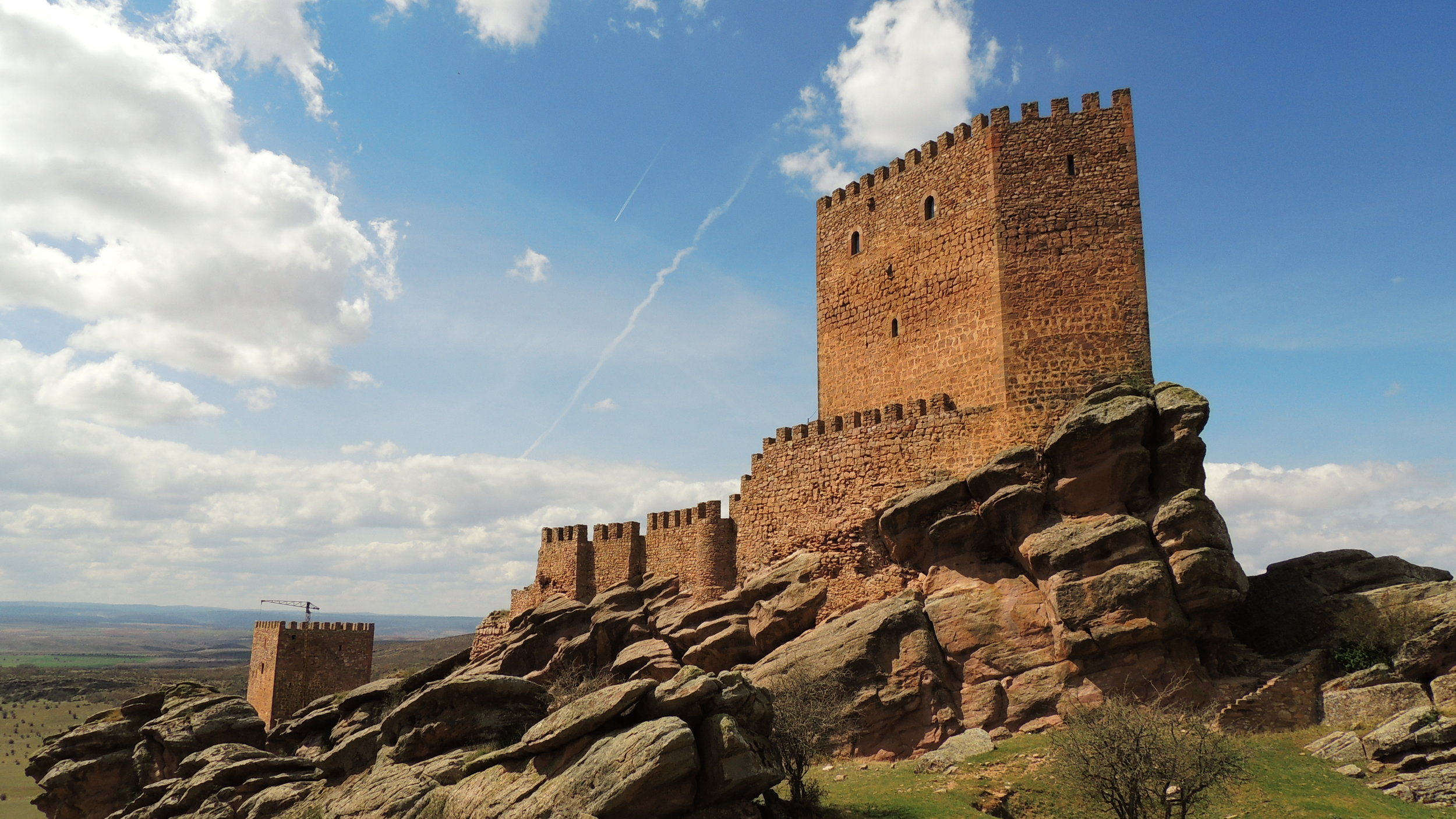The Castle of Zafra in Guadalajara, Spain; a filming location for season 6 of  Game of Thrones