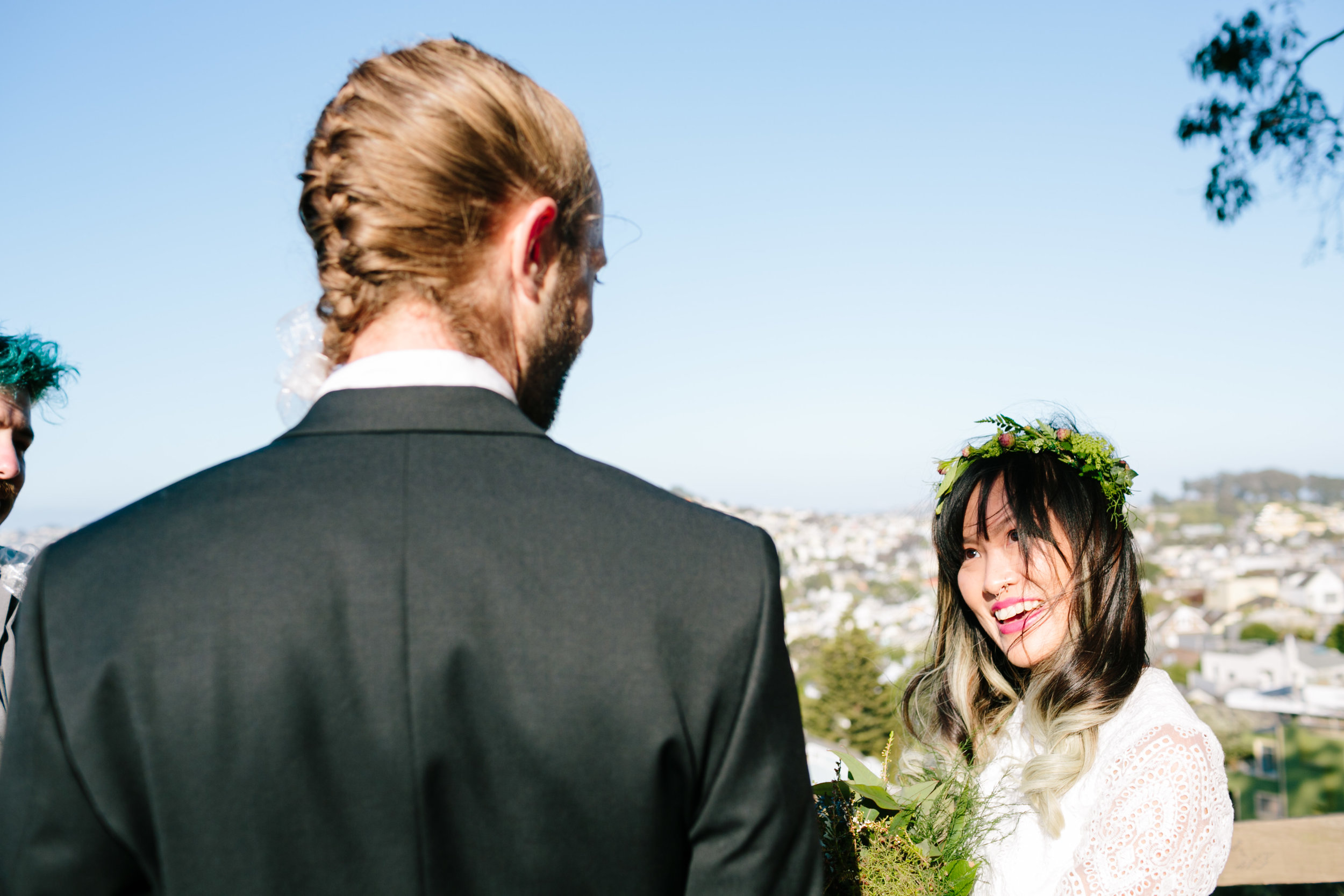 Seeing how handsome the Groom looked (with braids!)