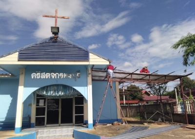 Project 4 - Khonburi Mission Church and Orphanage. We are currently adding on to the side of the church to give the young children a nursery. Project started June 6, 2018!