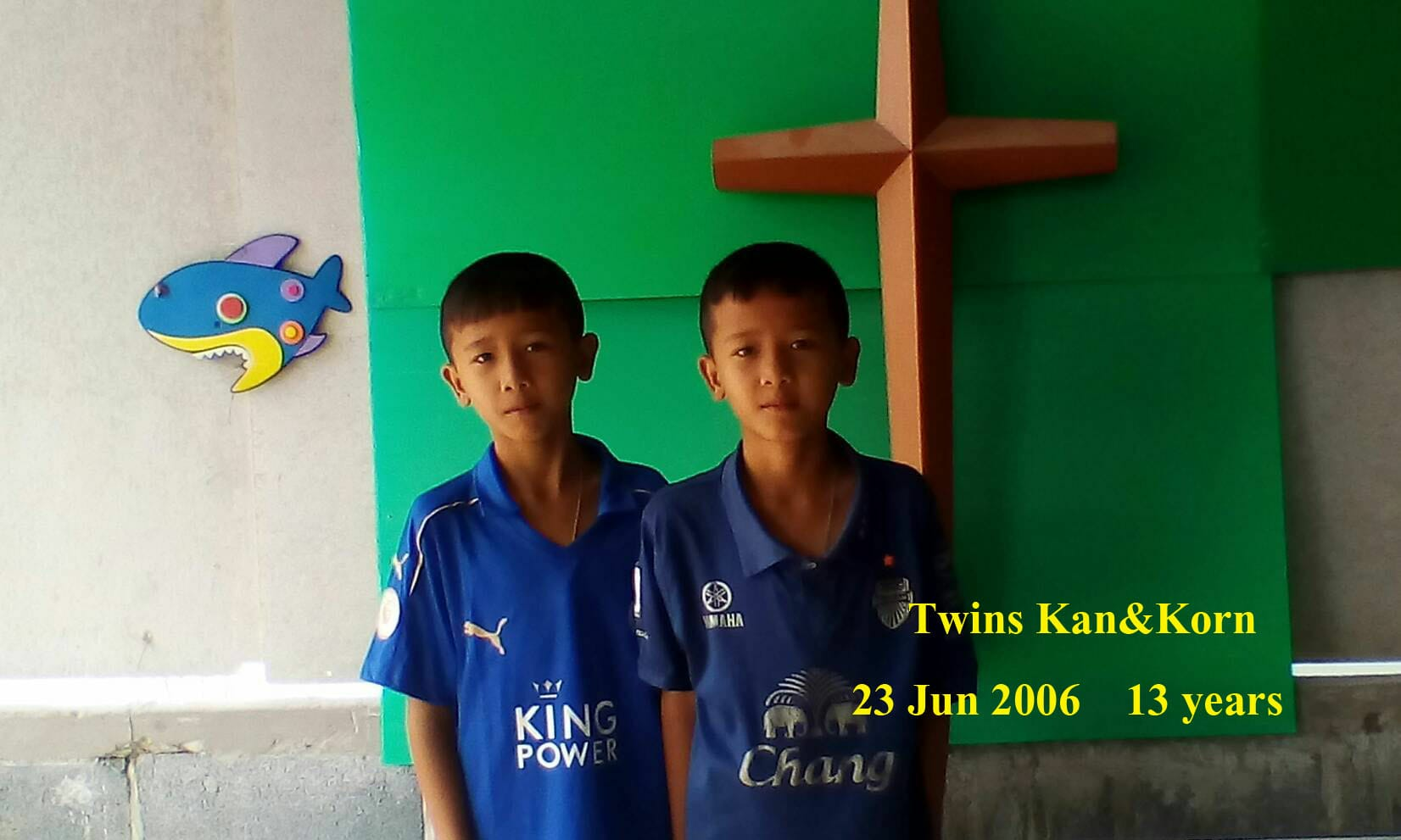 Kan and Korn (13 years old, boys)