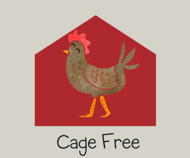 - These hens live and roam with other hens in a barn with 1.5 square feet per bird. These birds do not have access to the outdoors but are given sufficient freedom to movement to stand, turn around, stretch their wings, and perch or sit quietly without repeated disturbance.As stated by American Humane.
