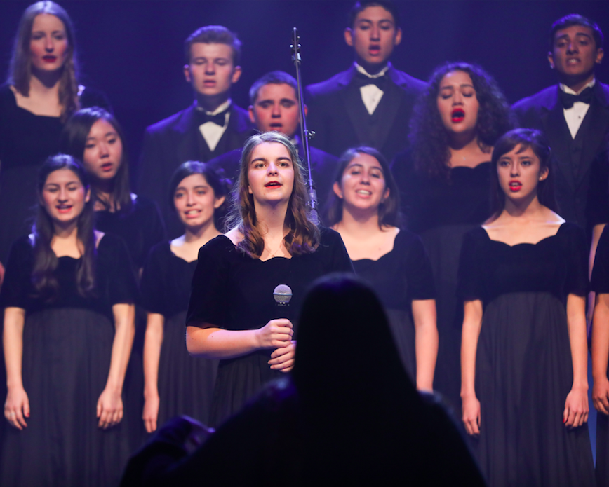 a cappella choir - An advanced vocal ensemble comprised of students in grades 10 - 12. This ensemble meets before school during 0 Period. This group continues to build upon their musical knowledge through deeper exploration in sight reading, ear training, music history and vocal technique.By audition only.
