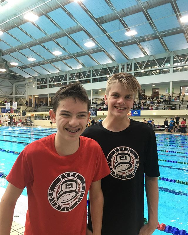 Callum and Will representing Tyee at Island Medley Challenge meet this weekend. Crushing best times, and Callum made his 1st westerns qualifying time in the 100 Breast!  #besttimes #paraswimming #100breast #yyj #tyeeaquaticclub #tyeeconvoy