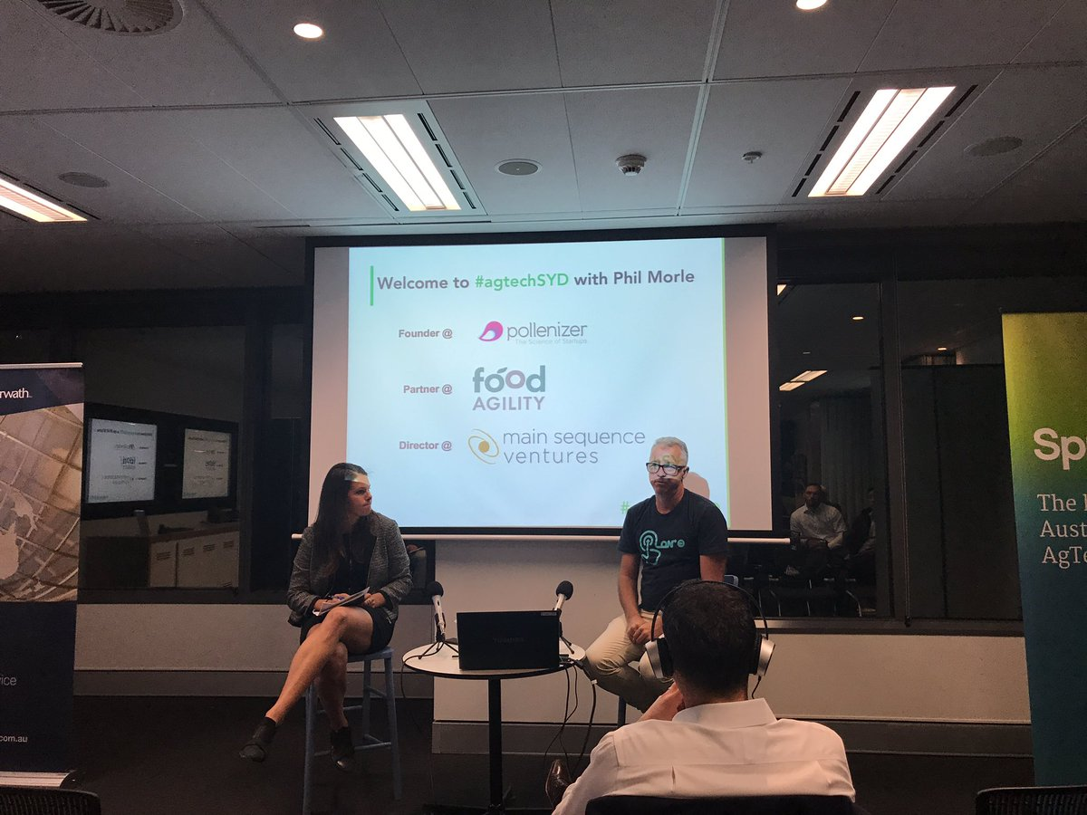 Phil and Sarah at the #agtechSyd Meetup