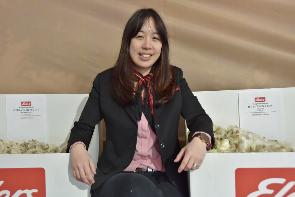 Samantha Wan who is now a wool business specialist at Elders